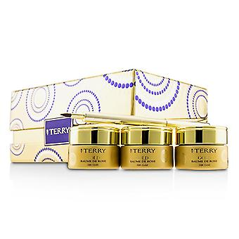 By Terry 24K Gold Baume De Rose Trio Deluxe Lip Balm Jewels (1x White Gold 10g 1x Gold 10g 1x Rose Gold 10g) - 3x10g/0.35oz