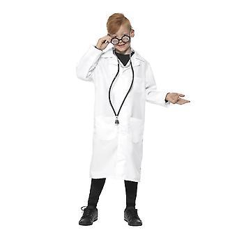 医者・科学者の衣装、ユニセックス、男の子デザインの凝った服、大きな年齢 10-12