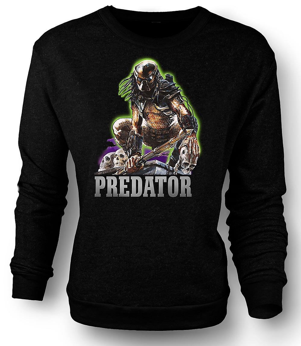 Mens Sweatshirt Predator Hunter - klassisk film