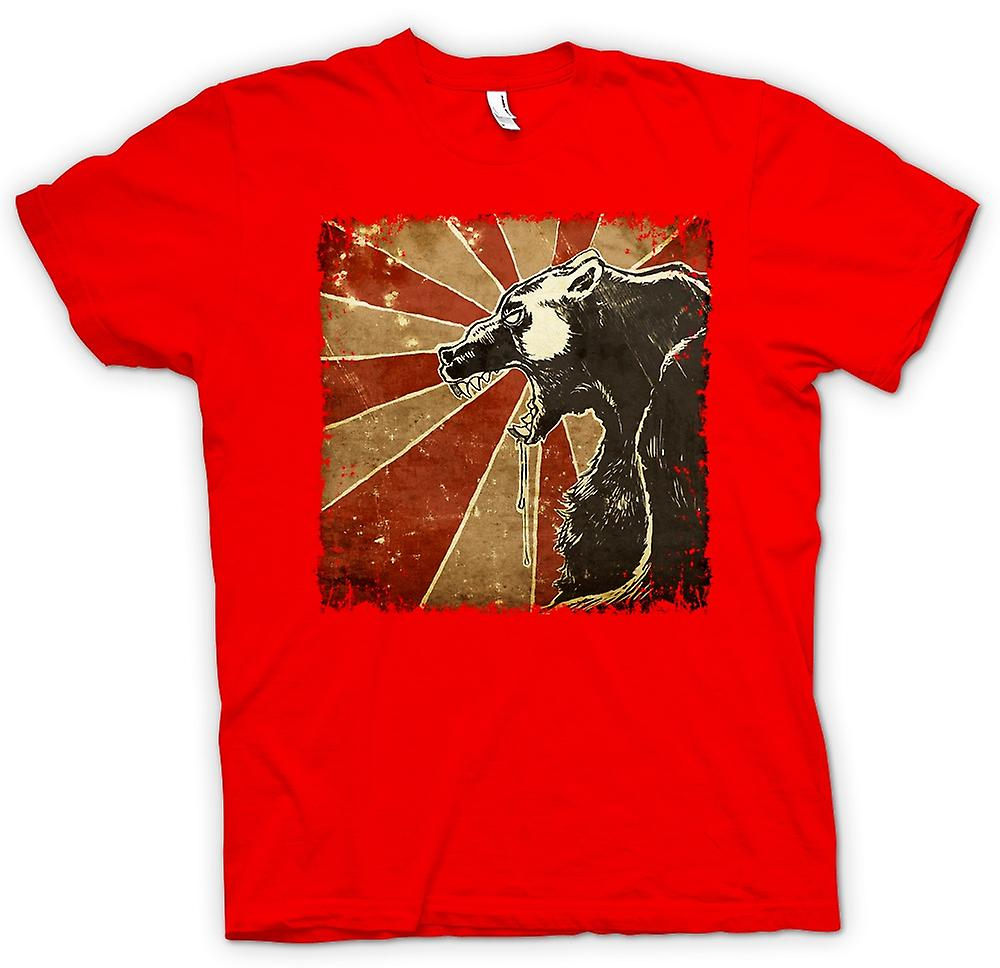 Mens T-shirt - Russische beer - Cool Retro Poster