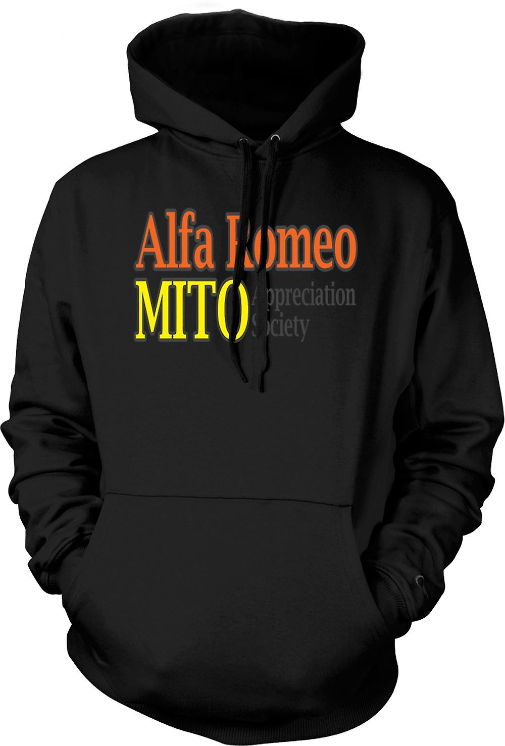 Mens Hoodie - Alfa Romeo Mito Appreciation Society