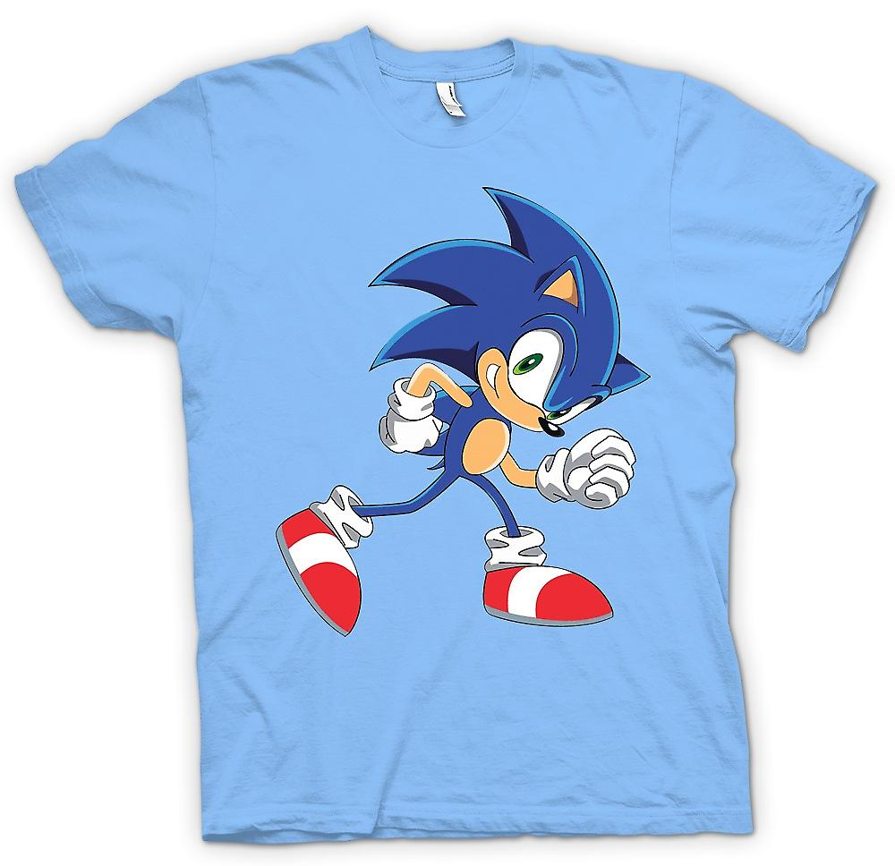Mens T-shirt - Run Sonic Run - Sonic The Hegehog