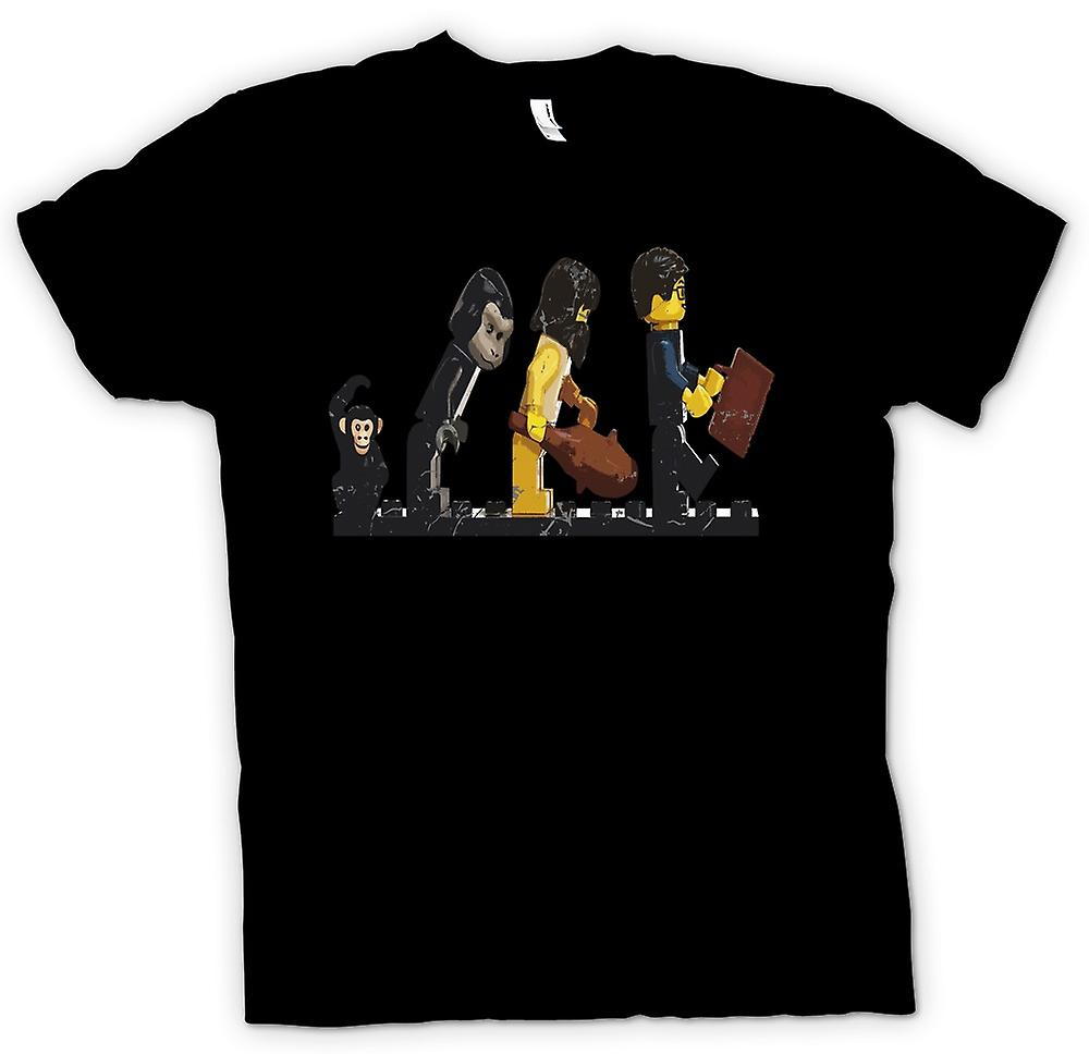 Kids T-shirt - Lego Mans Evolution - Funny