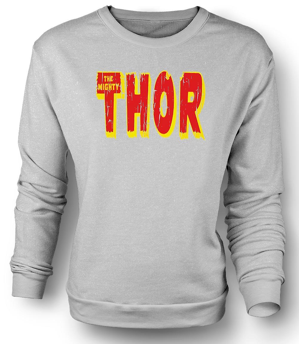 Mens Sweatshirt The Mighty Thor Logo