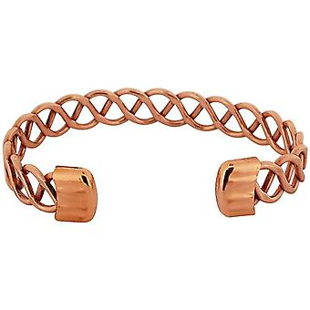 The Olivia Collection Unisex Copper Criss Cross Design Magnetic Bangle