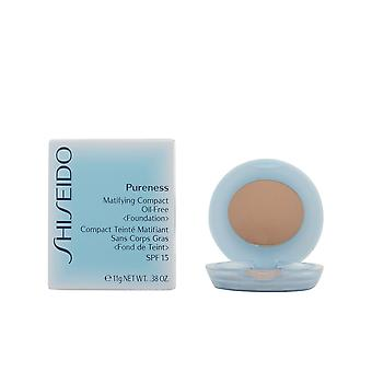Shiseido Pureness matificante Compact #40-natural bege 11 Gr para as mulheres