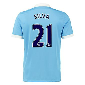 2015-16 Mann City Home Shirt (Silva 21)