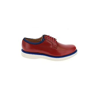 Church's Red Leather Lace-up Shoes