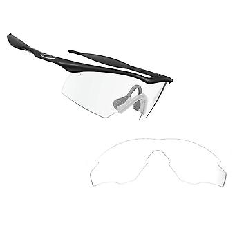 M2 Frame Asian Fit Replacement Lenses Clear by SEEK fits OAKLEY Sunglasses