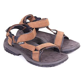 Teva Men's Terra Fi Lite Leather Open Toe Hook & Loop Sandal Brown