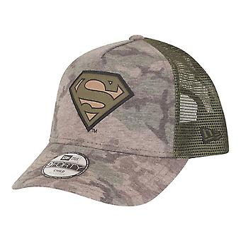 New Era 9Forty Trucker Kids Cap - Superman wood camo