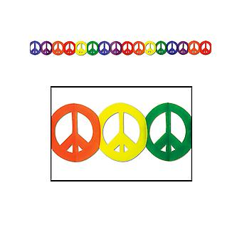 Peace-Zeichen-Girlande