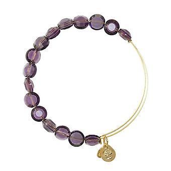 Alex et Ani améthyste luxe Perle Bracelet en or BBEB141G