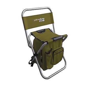 Yellowstone Fishing Chair Use As Rucksack When Folded Green