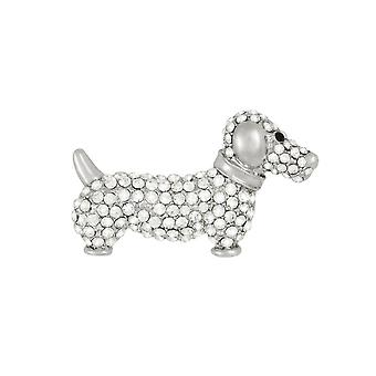 Eternal Collection Dilys The Dachshund Diamante Costume Brooch