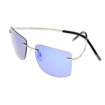Breed Aero Polarized Sunglasses - Gunmetal/Purple-Blue