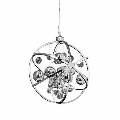 Spherical Ceiling pendentif lumière Chrome Glass Balls