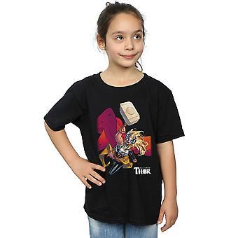Marvel Girls The Mighty Thor Mjolnir T-Shirt