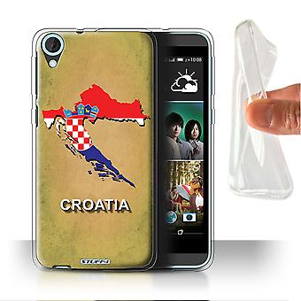 STUFF4 Gel/TPU Case/Cover for HTC Desire 820s Dual/Croatia/Croatian/Flag Nations