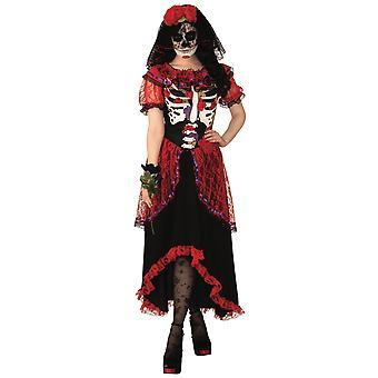Day of the Dead Senorita Skeleton Mexican La Calavera Catrina Womens Costume