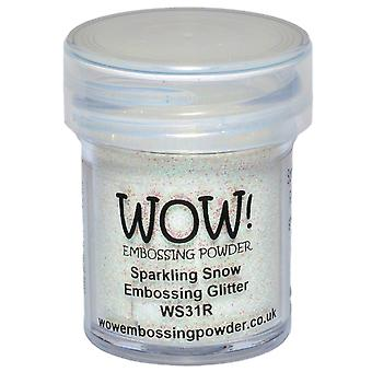 Wow! Embossing Powder 15Ml Sparkling Snow Wow Ws31r