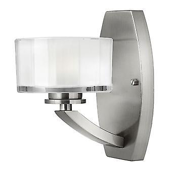 Meridian Modern Wall Light with Opal Glass Shade