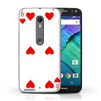 STUFF4 Case/Cover for Motorola Moto X Style/6 of Hearts/Playing Cards