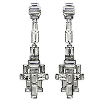 Butler and Wilson Baguette Stone Art Deco Style Drop Earrings