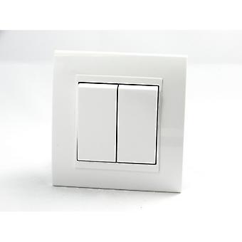 Frame I LumoS luxe Arc en plastique blanc Single 2 Gang 1 voie lumineuse interrupteurs