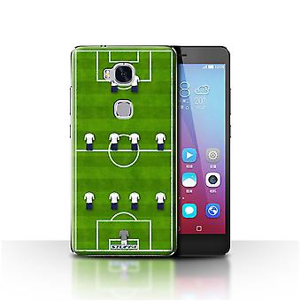 STUFF4 Case/Cover for Huawei Honor 5X/GR5/4-4-2/White/Football Formation