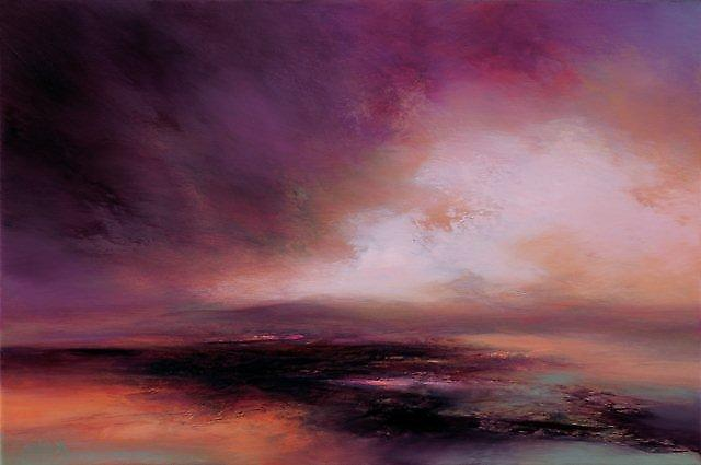 Kirstie Cohen print - Purple Sunset
