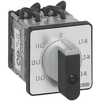 Voltmeter changeover switch 16 A 360 ° Grey, Black BACO NY37GQ1 1 pc(s)