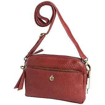 Dr Amsterdam Grain shoulder bag Dark Red