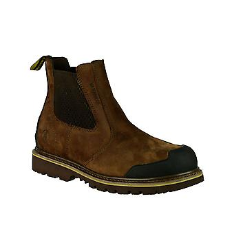 Amblers sikkerhed FS225 sikkerhed Tornet forhandler Herre støvler læder Slip på fodtøj
