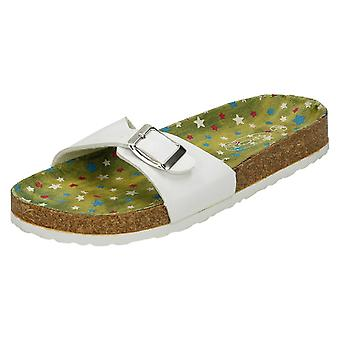 Girls Junior Spot On Mule Sandals H0133