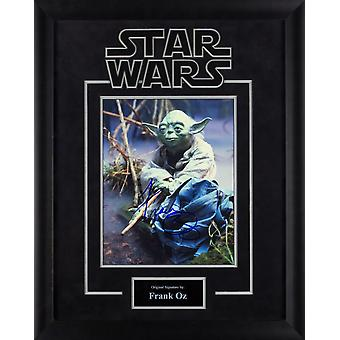 Star Wars - Yoda firmato da Frank Oz Movie foto nel caso con cornice