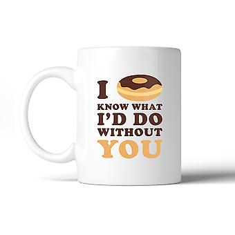 I Doughnut Know Cute Graphic Coffee Mug Funny Gift Ideas For Couple
