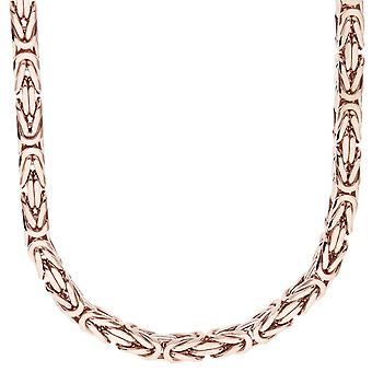 Sterling 925 Silver King chain - DOTTE 6x6mm rose gold