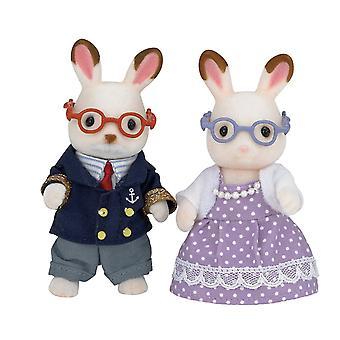 Playset - Sylvanian Families - Chocolate Rabbit Grandparents