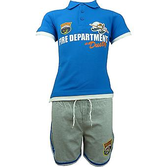 Boys Disney Pixar Planes Dusty Polo Short Sleeve T-shirt & Shorts Set OE1494