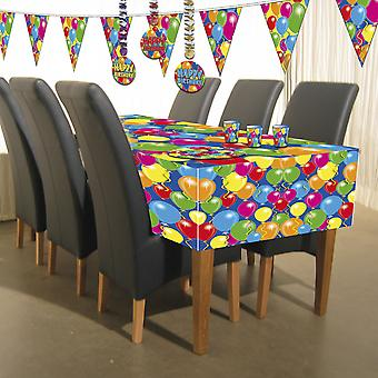 Balloon design tablecloth 130 x 180 birthday decoration party ceiling
