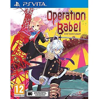 Gioco di PlayStation Vita Legacy di funzionamento Babel nuova Tokyo