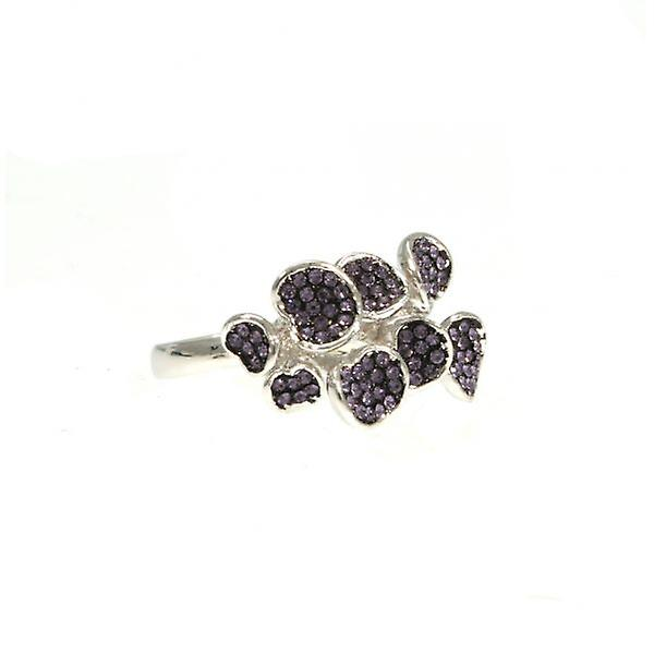 W.A.T 3D Shaped Crystal Ring