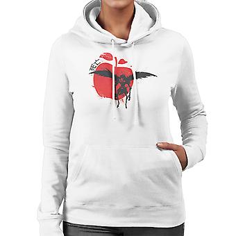 Rote Sonne Ryuk Death Note Damen Sweatshirt mit Kapuze