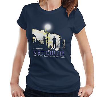 Ketchum diablo cazador Pokemon t-shirt de la mujer del exorcista