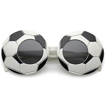 Oversize Novelty Sports Soccer Sunglasses With Round Lens 38mm