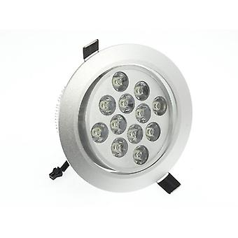 I LumoS High Quality Epistar 12 Watts Silver Circle Aluminium Warm White LED Tiltable Recessed Spot Down light