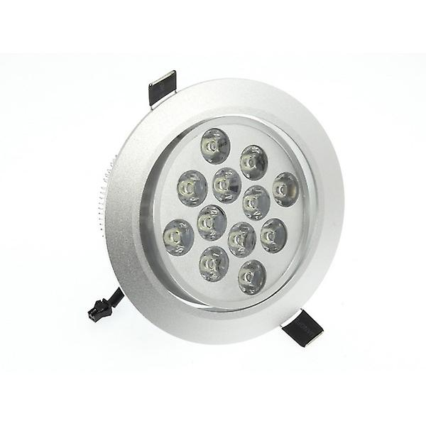 I LumoS High Quality Epistar 12 Watts Silver Circle Aluminium Warm White LED Tiltable Recessed Spot Down light