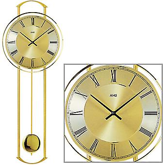 Wall clock quartz pendulum clock clock with pendulum metal AMS 60 x 22 x 7 cm