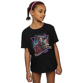 Marvel piger vogtere af Galaxy Neon Star Herre T-Shirt